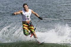 Men's Shortboard Action - Aliaksei Zharnasek. Image of World Champion Aliaksei Zharnasek of Belarus competing in the Men's Shortboard (Tricks) Finals event at Stock Image