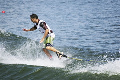 Men's Shortboard Action - Javier Julio Stock Photo