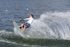 Men's Shortboard Action - Olivier Fortamps Royalty Free Stock Images