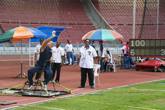 Men's Shot Putt for Disabled Persons Stock Image