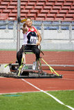 Men's Shot Putt for Disabled Persons Royalty Free Stock Photography