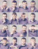 Men& x27; s-sinnesrörelser royaltyfri fotografi