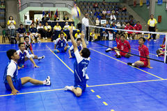 Men's Sitting Volleyball (Blurred) Royalty Free Stock Photo