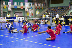 Men's Sitting Volleyball (Blurred) Royalty Free Stock Images
