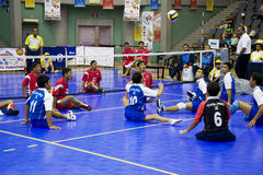 Men's Sitting Volleyball for Disabled Persons Royalty Free Stock Image