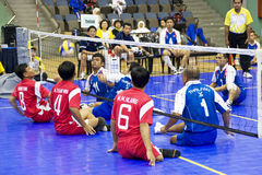 Men's Sitting Volleyball for Disabled Persons Stock Photo