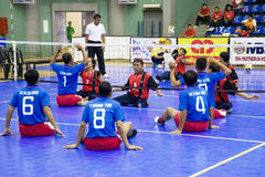Men's Sitting Volleyball for Disabled Persons Stock Photography