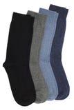 Men's socks. Four pairs of men's socks, isolated on white background Royalty Free Stock Photos