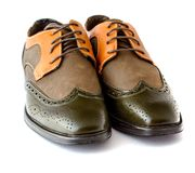 Men's Spectator Style Dress Shoes isolated Stock Photo