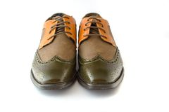 Men's Spectator Style Dress Shoes  Royalty Free Stock Photography