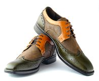 Men's Spectator Style Dress Shoes  Royalty Free Stock Image