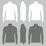 Men`s sport jacket. Front, back and side views of men`s sport jacket Royalty Free Stock Photo