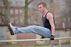 Men's Sports Parallel Bars Royalty Free Stock Image