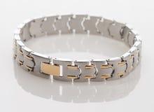 Men's Stainless Steel Bracelet Stock Photo