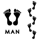 Men's step print Stock Images