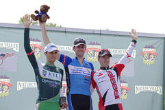 Men's Stillwater Criterium Top Three Finishers Royalty Free Stock Photo