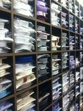A mens retail store of dress shirts Royalty Free Stock Photo