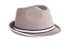 Men`s Straw Hat Isolated on White  2 Stock Photography