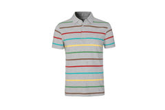 Men's striped T-shirt Stock Image