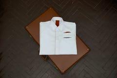 Mens style shirt. Stylish shirt on the floor Royalty Free Stock Photos