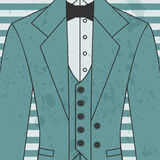 Men's suit with bow tie Royalty Free Stock Photos