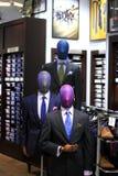 Men`s suit store display stock photo