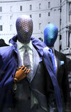 Men`s suit store display stock image