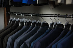 Men`s suits on a hanger Royalty Free Stock Images