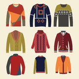 Men's sweaters - Illustration Stock Images