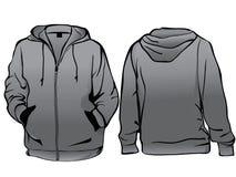 Men's sweatshirt template Royalty Free Stock Photos