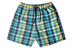 Men`s swim trunks Stock Photos