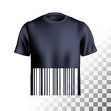 Men s t-shirt design barcode Royalty Free Stock Image