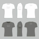 Men`s t-shirt design template Royalty Free Stock Image