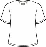 Men's t-shirt illustration Royalty Free Stock Image