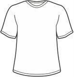 Men's t-shirt illustration Royalty Free Stock Image