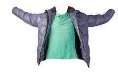 Men`s t-shirt and jacket isolated on white background.casual clothing