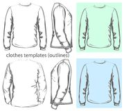 Men's t-shirt long sleeve Royalty Free Stock Images