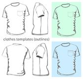 Men's t-shirt with pocket royalty free illustration