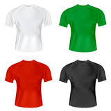 Men's T shirt  template Stock Photos