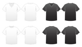 Men's T-shirt Templates-Series 1 Stock Photos