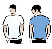 Men's t-shirts template Stock Image