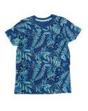 Men& x27; s-T-tröja med en tropisk modell isolate Royaltyfri Bild