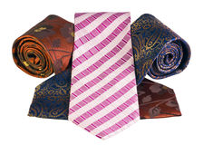 Men's Ties convolute Royalty Free Stock Image