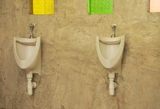 Men`s toilet in coffee shop. Royalty Free Stock Photography
