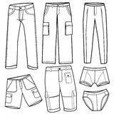 Men's trousers, short Royalty Free Stock Photos