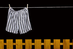 Men's underwear hanging on a clothesline Stock Photography
