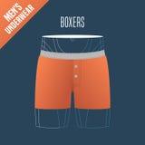 Men's underwear, shorts vector illustration Royalty Free Stock Photos