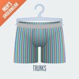 Men's underwear vector illustration Royalty Free Stock Photos