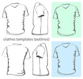 Men's v-neck t-shirt Royalty Free Stock Photo