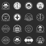 Men's vector emblems and badges Stock Images